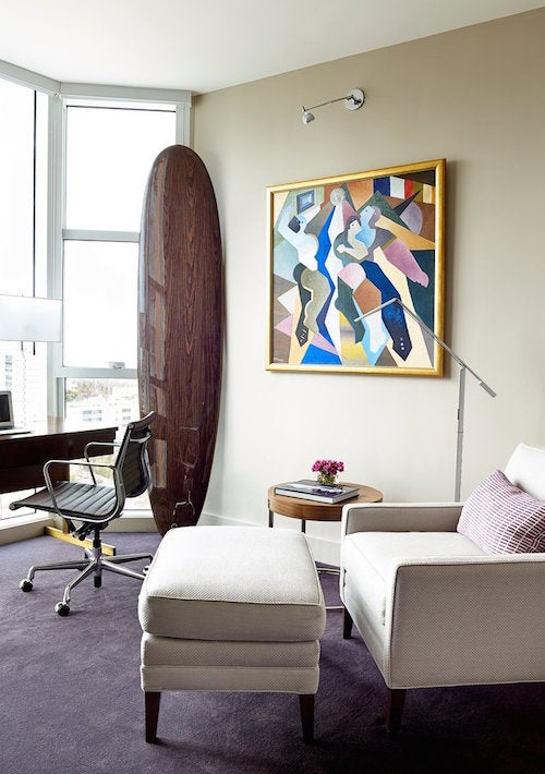 For A Manhattan Couples Vacation Condo In Miami Beach High Rise Interior Designer Todd Davis Of Brown Design Looked Ways To Inject Surf