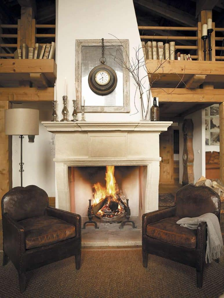 living room fireplace by Marion Lichtig