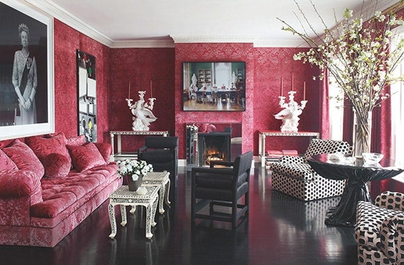 a dozen red rooms 1stdibs - First Dibs Home Decor
