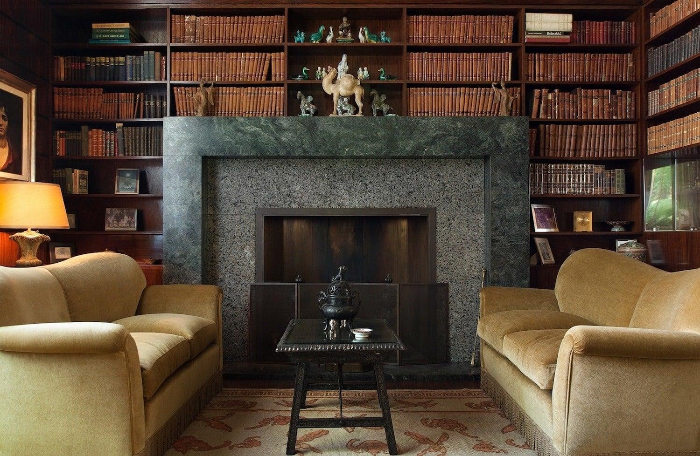 Library in Milan's Villa Necchi Campiglio.