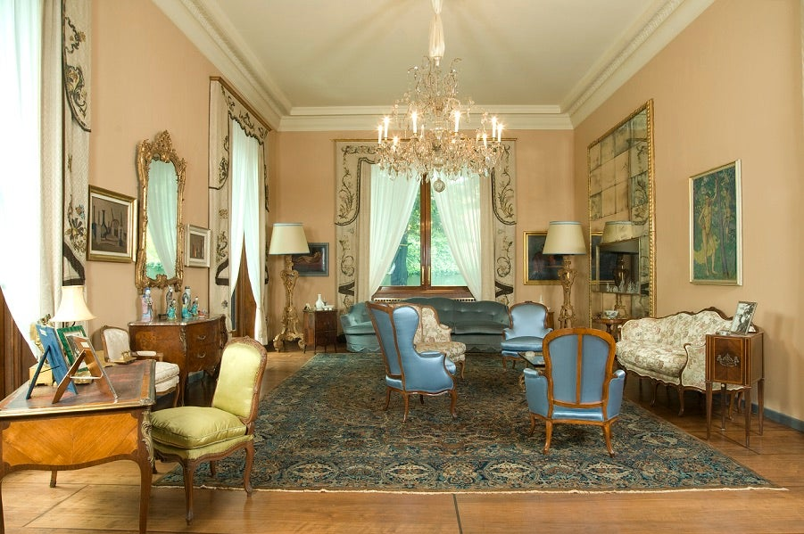 The salon of of Villa Necchi Campiglio.