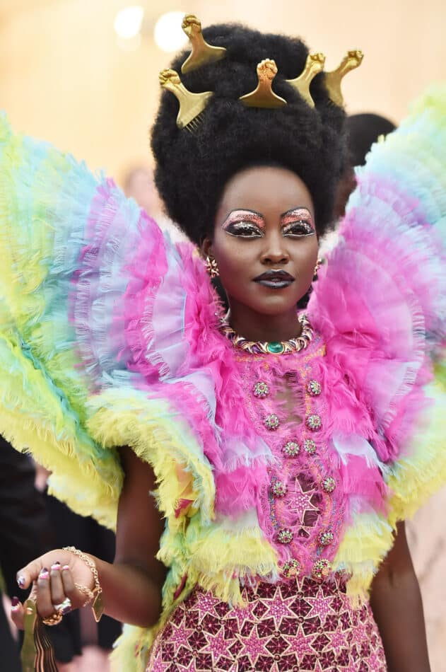 """Lupita Nyong'o on the red carpet at this year's Met Gala for """"Camp"""""""
