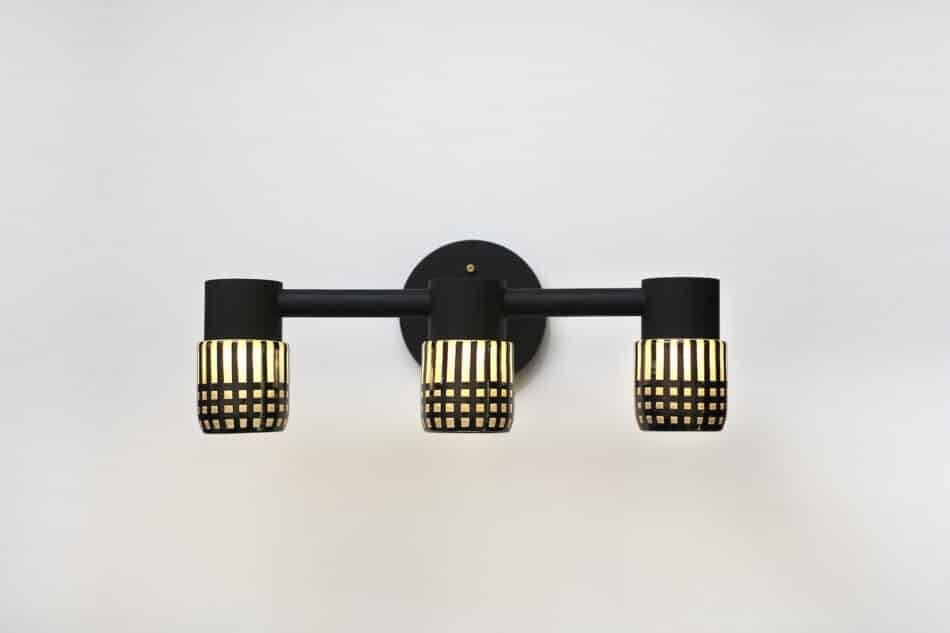 Grain Circlet triple sconce