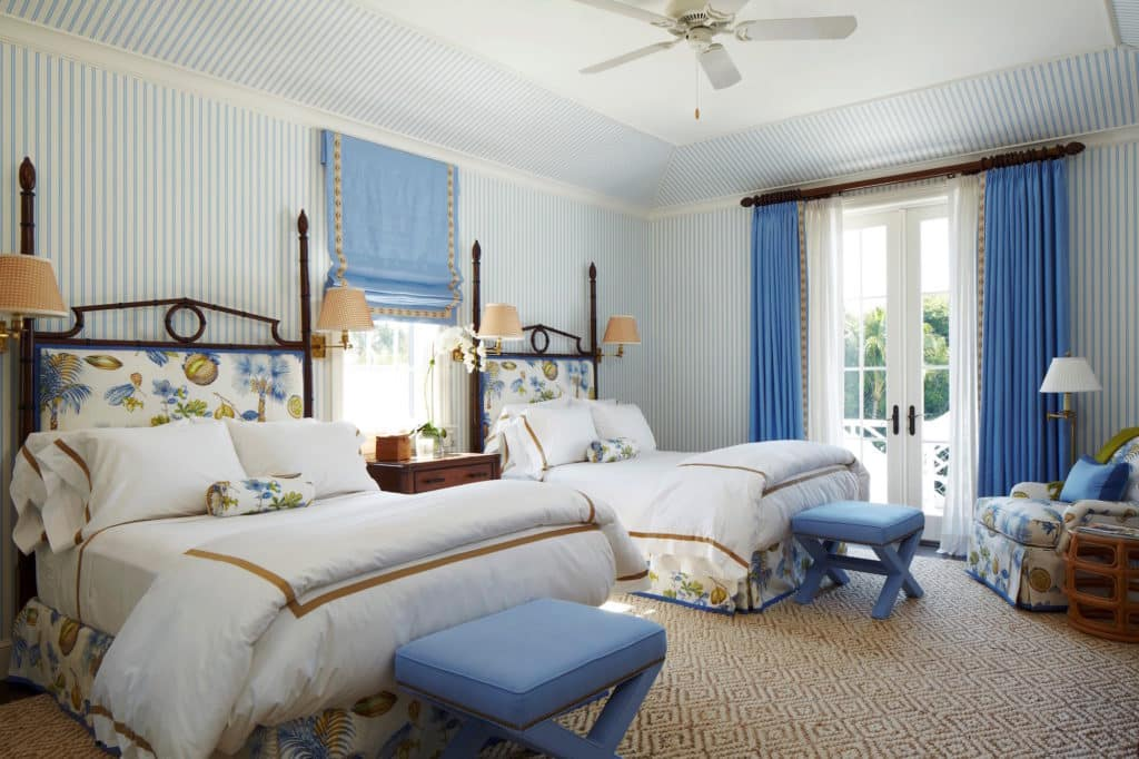 Palm Beach bedroom by Kemble Interiors