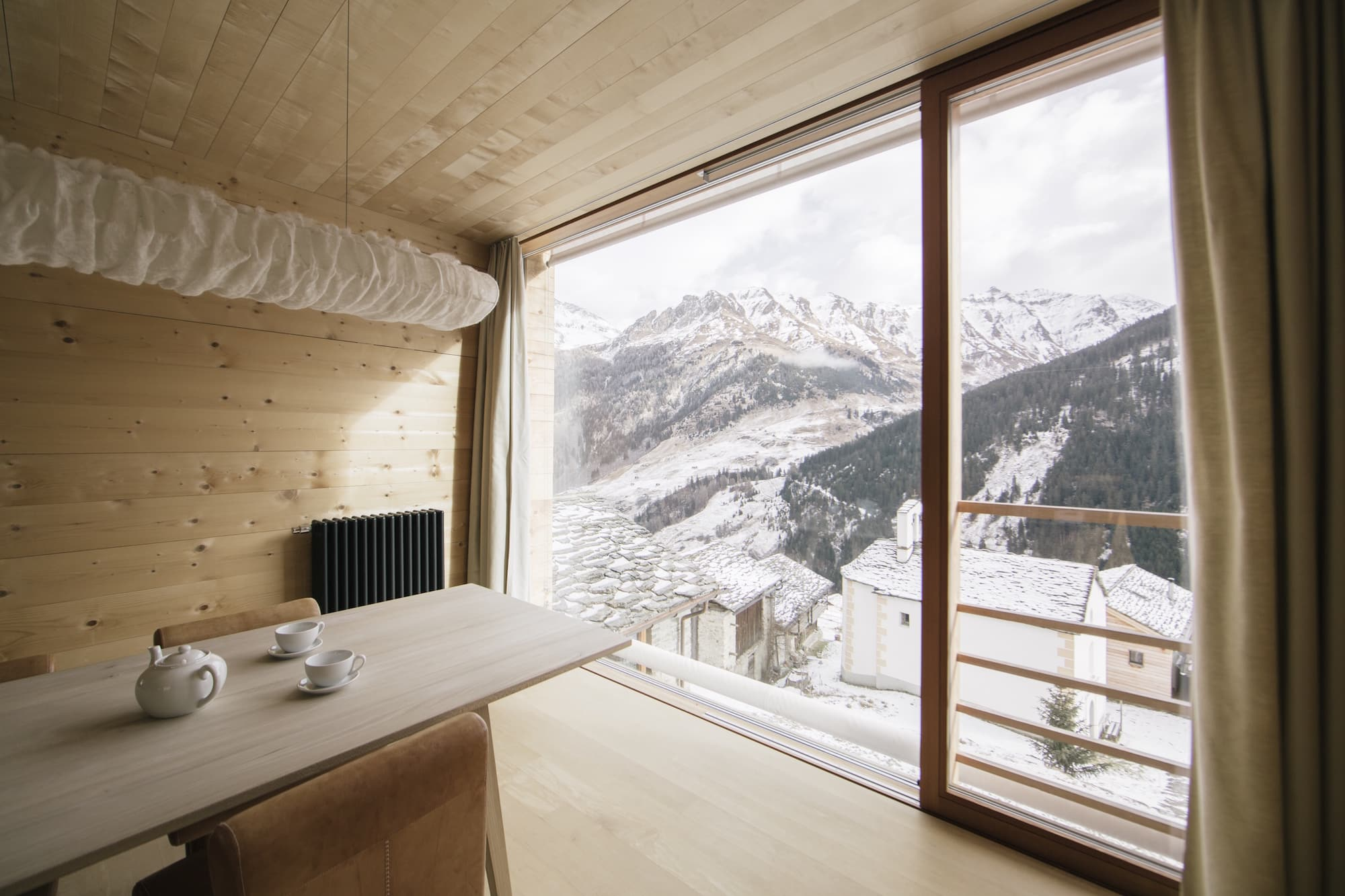 Only Peter Zumthor could make a spartan pine interior look this luxe.