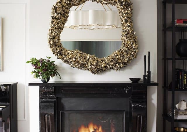 featured image for post: Holiday at Home: Nicole Hollis Brings Sparkle to Modern Mantels in San Francisco