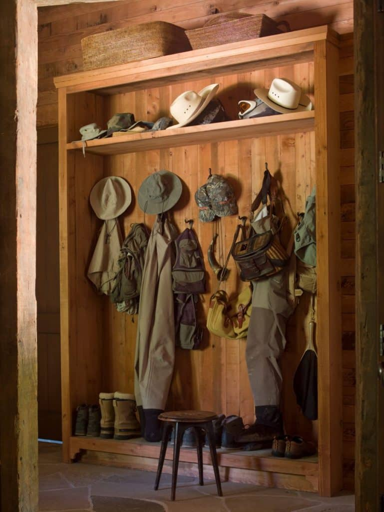 Sun Valley mudroom by Suzanne Rheinstein