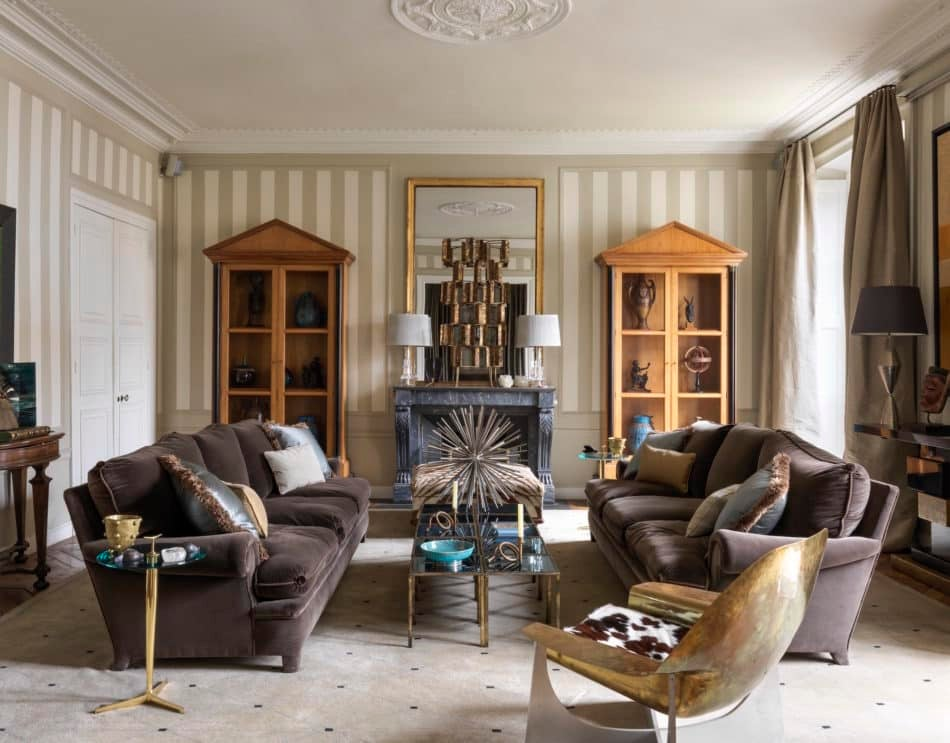 sitting room in Jamie Creel's Paris home