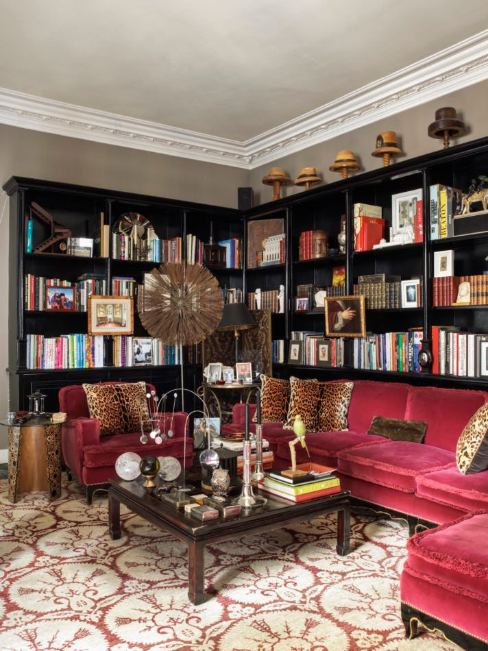 library in Jamie Creel's Paris home