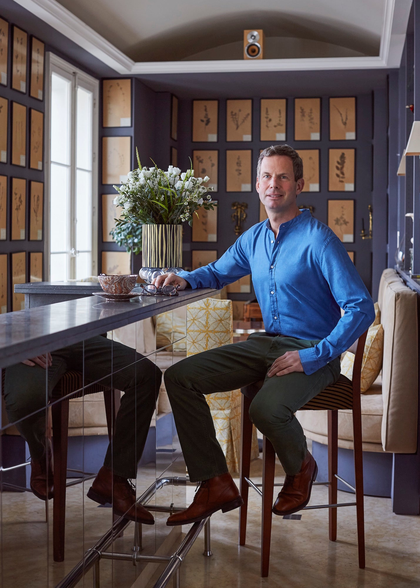 Jamie Creel in his Paris kitchen