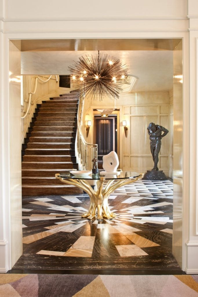 Kelly Wearstler gold and black entryway