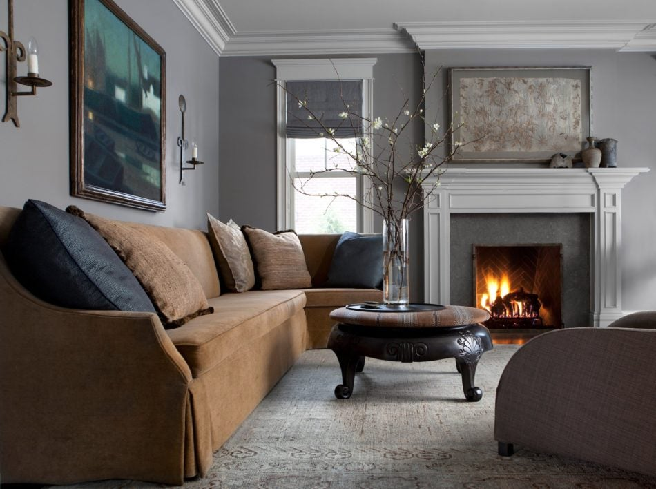 living room fireplace by Michael del Piero