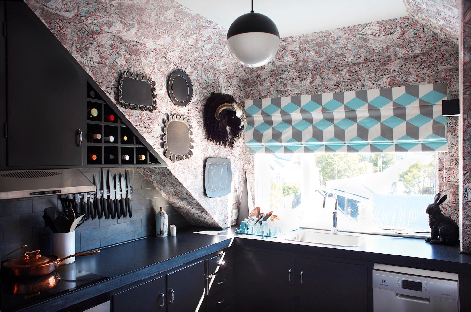 The eclectic kitchen of Sheila Bridges's Reykjavík pied-à-terre