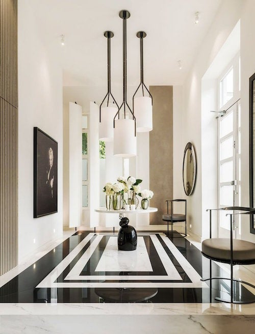 The Entrance Hall Of Designer Kelly Hoppenu0027s London Home Features Bespoke  Pendant Lights By Hervé Langlais For Galerie Negropontes.