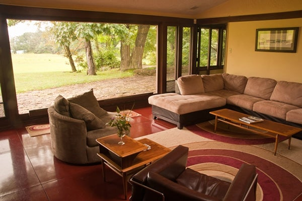 An Interior Of A Wright Designed Usonian Home In Polymath Park. Image Via  Pittsburgh