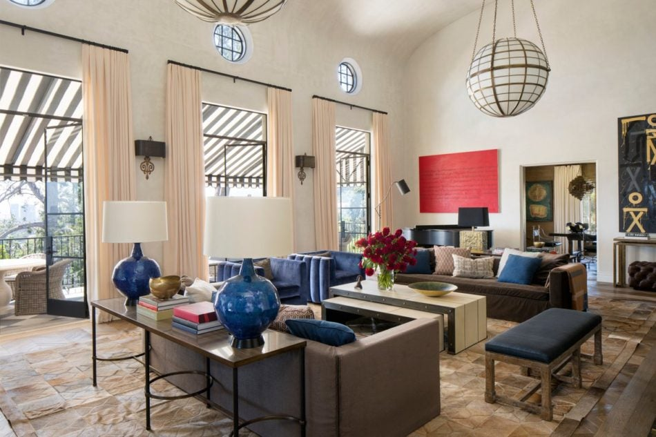 Martyn Lawrence Bullard West Hollywood living room