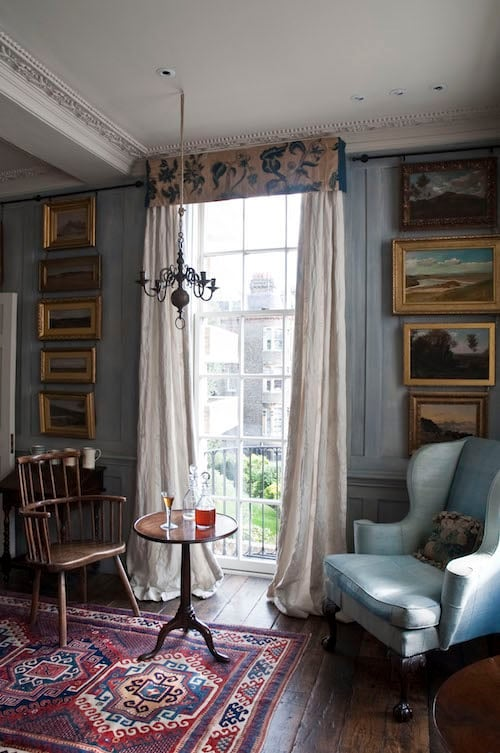 Riviere Interiors created this prime window space specifically for afternoon tea and cocktail hour.