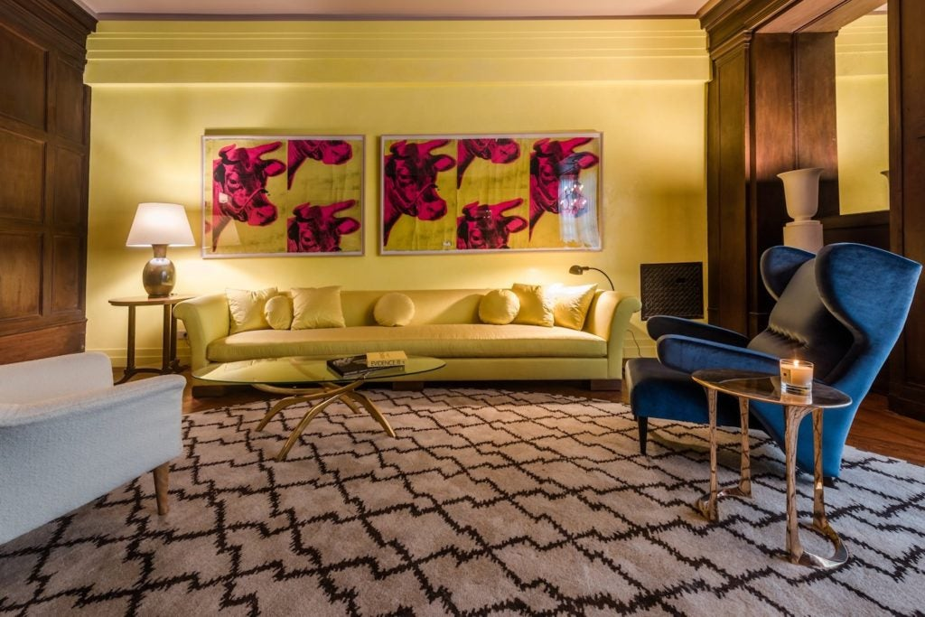 Robert A.M. Stern's living room in the 2017 Kips Bay Decorator Show House was inspired by Villa Necchi.