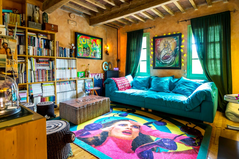 Stefano Seletti's living room