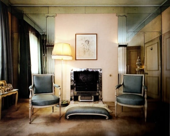 "Maugham created this dressing room for the residence of Helen and George Hay Whigham in Mayfair, London. The Whighams' daughter Margaret wrote that he father was ""aghast at the size of [Maugham's] bills, but the results were worth it."""