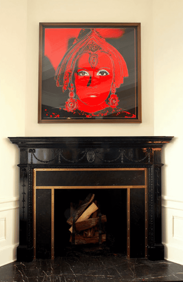 living room fireplace by Roman and Williams