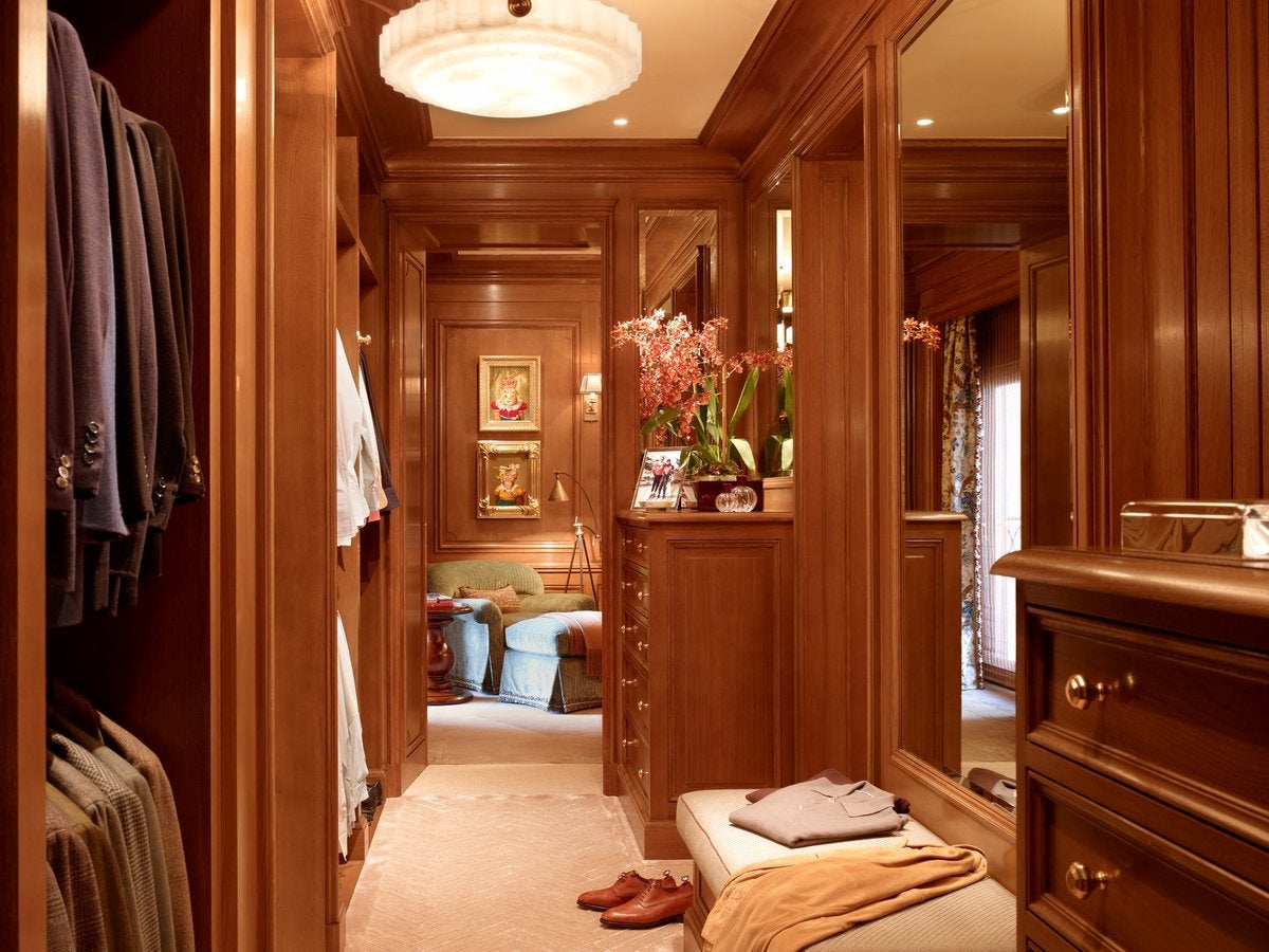 Men's dressing room in a San Francisco apartment
