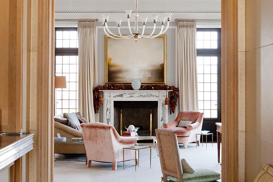 living room fireplace by Michael Aiduss