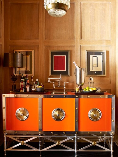Steven Gambrel Used A Bright, Citrus Colored Metal Bar By Contemporary  Designer Paul Benson In A Project For Clients Located In The Flatiron  Neighborhood Of ...