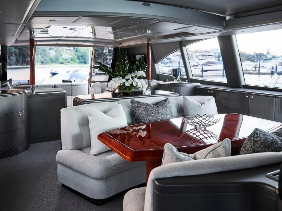 The Illusion yacht interior