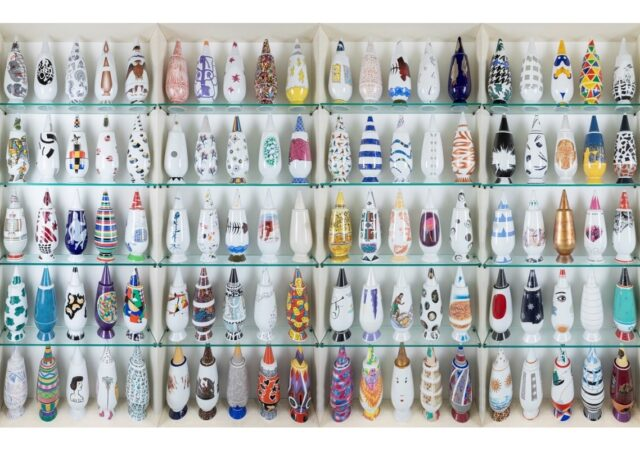 featured image for post: This Rare Set of 100 Alessi Vases Includes Designs by Scores of International Artists