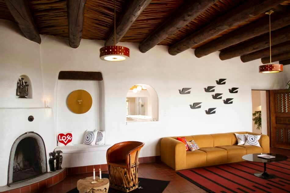 Alexander Girard's accessories for Vitra recently took over the lobby and bar of El Rey Court hotel in Santa Fe.