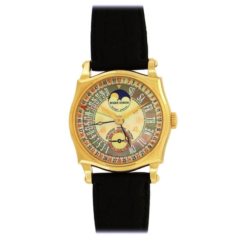 Roger Dubuis Rose Gold Sympathie Perpetual Wristwatch