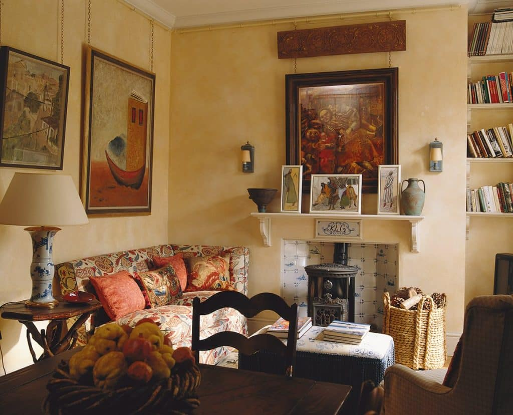 living room fireplace by Colefax & Fowler