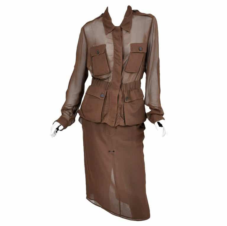 silk safari suit