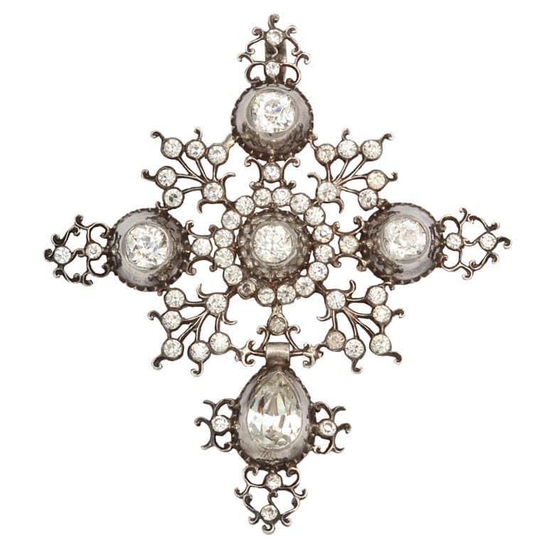 Georgian French Paste Silver Pendant