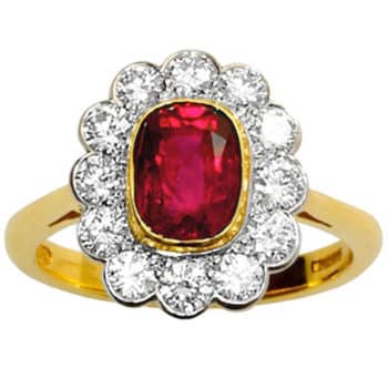 ruby cluster ring