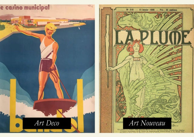 featured image for post: Art Deco vs. Art Nouveau: Period Features and Examples