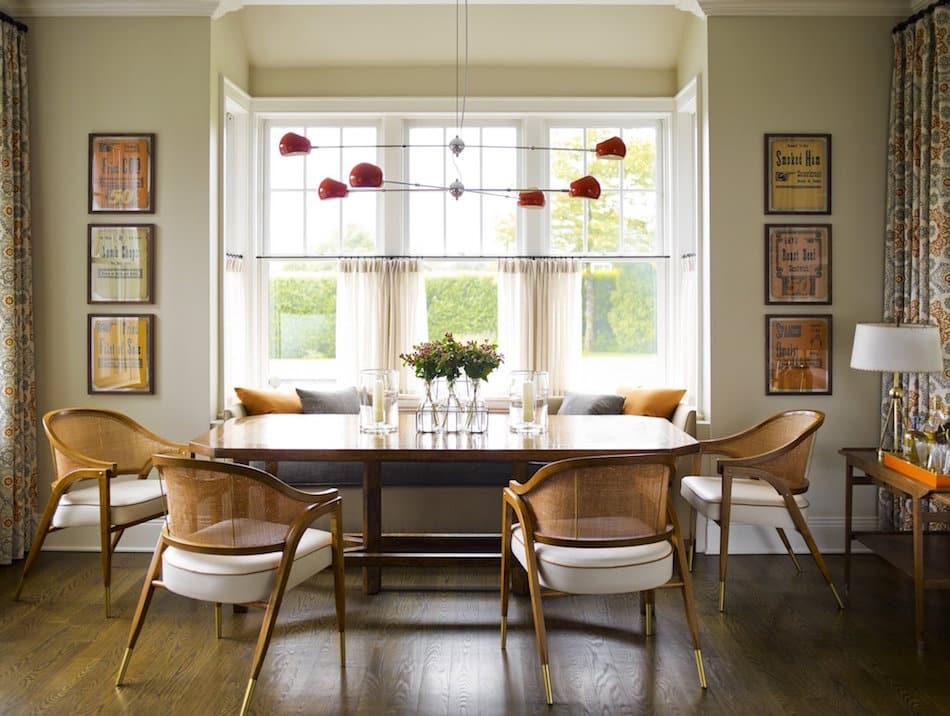Sagaponack dining room by Gideon Mendelson
