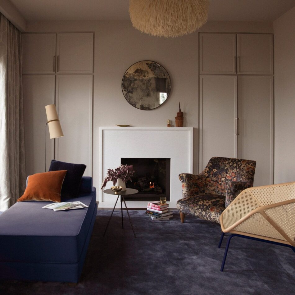 bedroom fireplace by Chroma