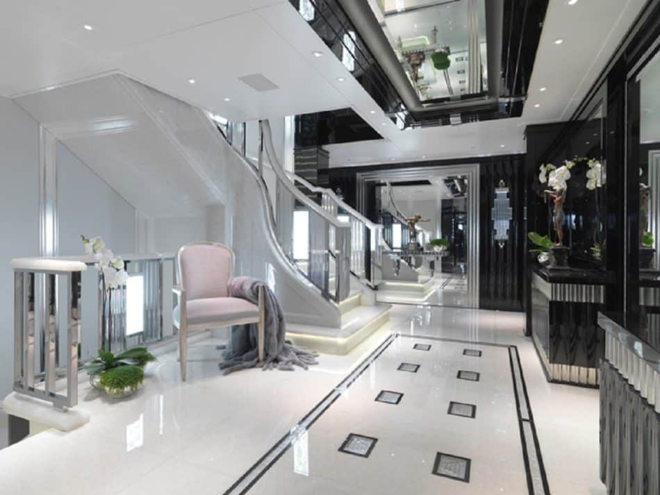 Silver Angel yacht entryway