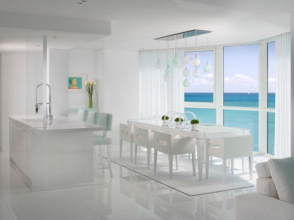 16 pristine white rooms the study for All white dining room