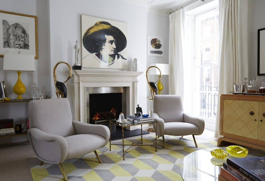 living room fireplace by Jan Showers
