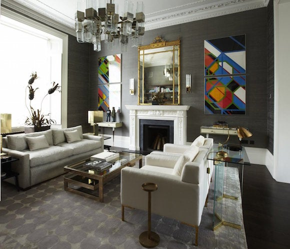 Peter Mikic Transformed A Rundown Late 19th Century London Hotel Into A  Glamorous Family Home. In The Living Room, Vibrant Color Field Paintings By  Sarah ...