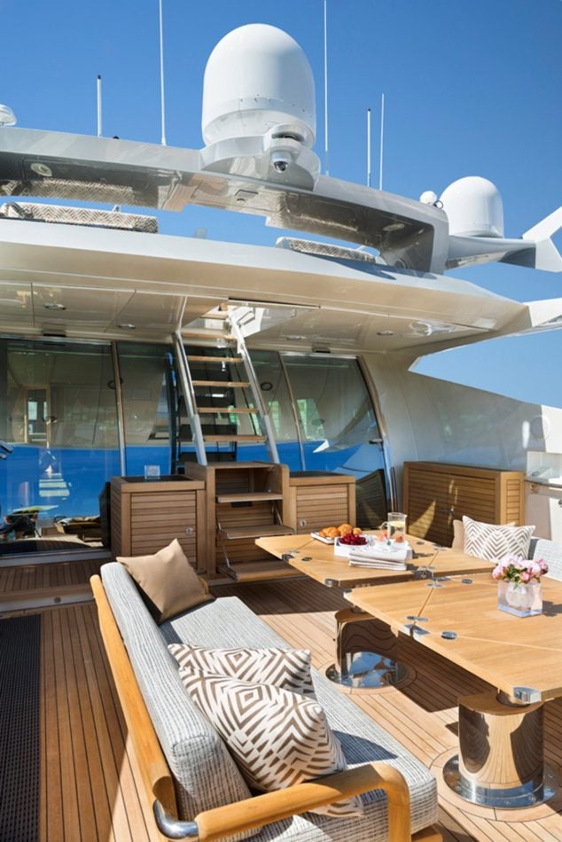 yacht deck by Peter Mikic
