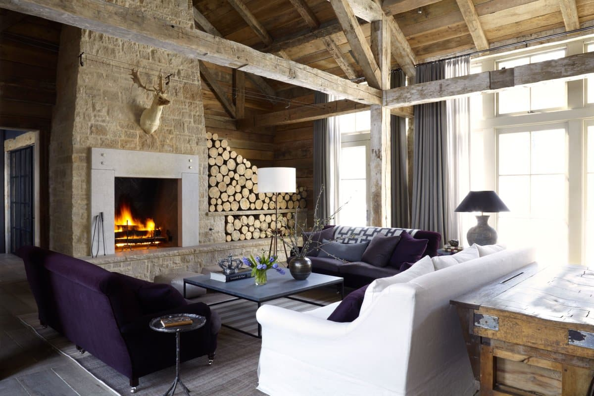 Chic chalet interiors the study