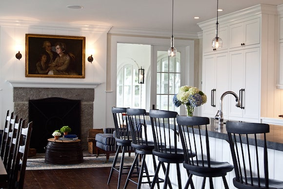 Marcia Tucker Renovated This Farmhouse In Washington Connecticut For Clients Who Requested That The Furniture Fabrics And Fixtures Be American Made