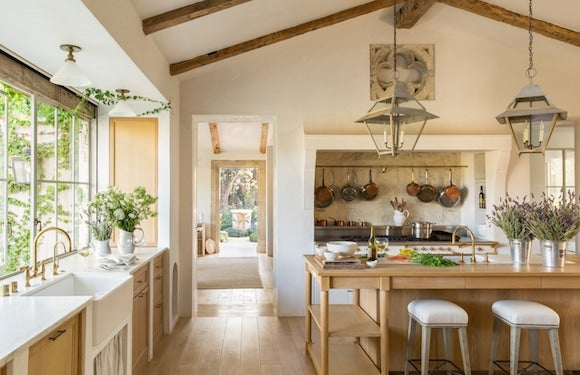 At Patina Farm Brooke And Steve Giannettis Home In Ojai California The Airy Kitchen Includes An Island Cabinetry Made From White Oak