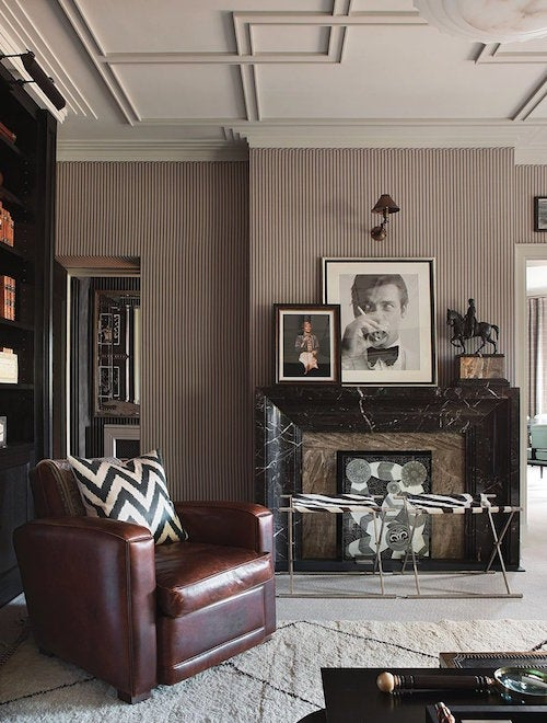 Hubert Zandberg Created A 1940s Art Decou2013inspired Version Of The  Traditional Gentlemanu0027s Club In This London Apartment. Vintage Photos Of  Roger Moore And ...