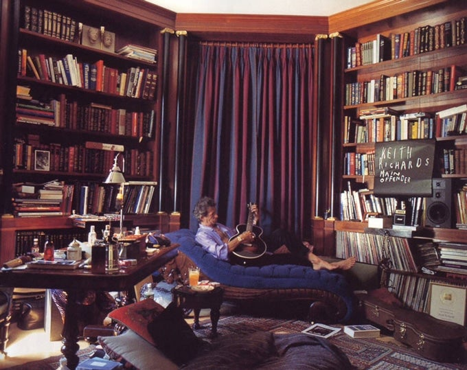 The library was the only place around where I willingly obeyed the rules.  See? Even Keith Richards behaves like a gentleman in this lush, layered  study.