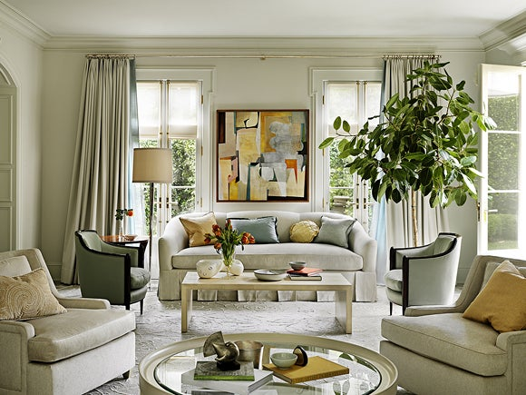modern living room beverly hills california by barbara - Designers Homes
